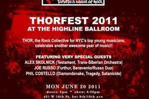 THORFEST 2011 ANNOUNCES SPECIAL GUESTS ALEX SKOLNICK, JOE RUSSO, PHIL COSTELLO