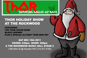 PAST SHOW:  THOR HOUSE BAND HOLIDAY SHOW W/ BLACK LEOPARD plus ALT/INDY