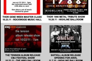 THOR FALL 2011 CONCERT CALENDAR!  SHARE IT WITH EVERYONE!!