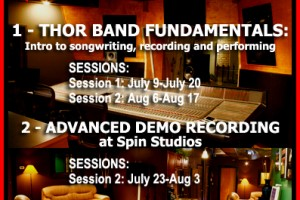 THOR SUMMER SONGWRITING/RECORDING PROGRAMS 2012!  Don't miss out, spots available!