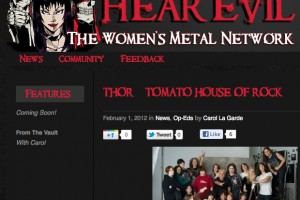 THOR FEATURE ON HEAREVIL.COM (THE WOMEN'S HEAVY METAL NETWORK!)