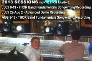 SIGN UP NOW!  THOR Summer 2013 Songwriting Programs at SPIN STUDIOS!
