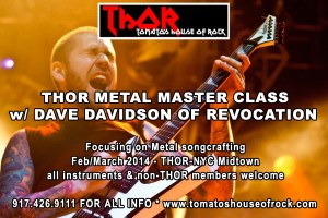 THOR METAL MASTER CLASS W/ DAVE DAVIDSON OF REVOCATION