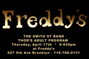 past show: THOR ADULT PROGRAM PLAY FREDDY'S IN BK
