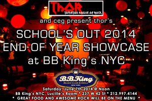 past show: THOR BB KING'S 6/7 – HUGE END OF SCHOOL YEAR SHOW!