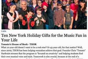 "THOR listed in the Village Voice ""Ten New York Holiday Gifts For The Music Fan In Your Life""!"