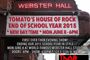 past show: THOR'S 1ST EVENING SHOW AT WEBSTER HALL 6.8.15